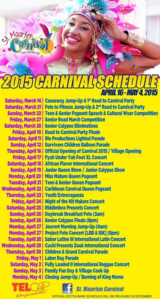 2015 St Maarten Carnival Schedule Plan Your Trip To St