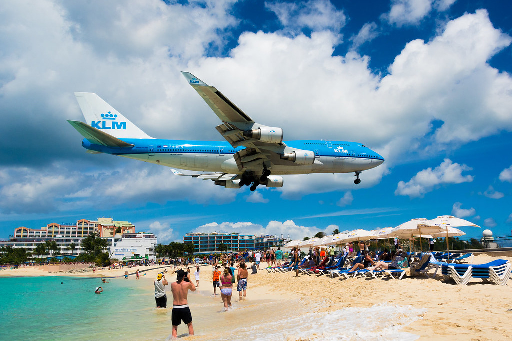 Maho Beach KLM Flights